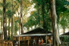 lukisan-sunarno-di_tepi_hutan